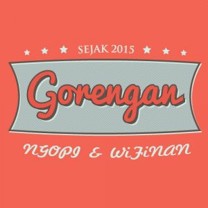 Vector Retro, Desain Logo Gorengan, Editable