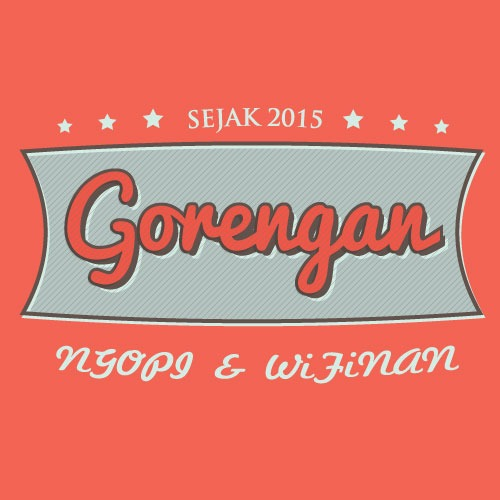 vector retro, logo gorengan