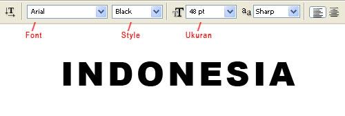 Gambar (2) - Text Indonesia