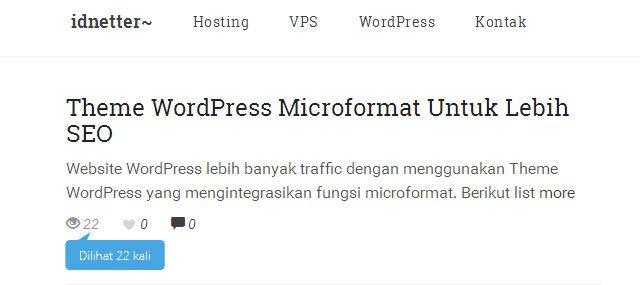 Menampilkan Post View Count WordPress