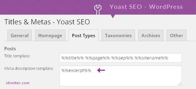 Setting Yoast SEO Auto Generate Meta Description