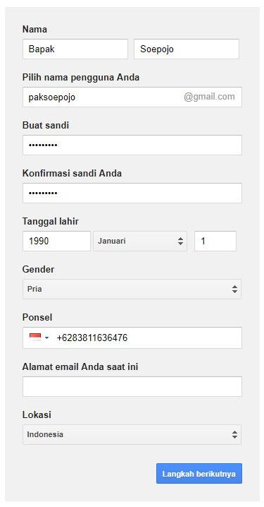 Cara membuat email gmail – Bagian 3