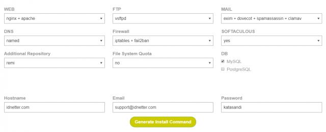 cara install vestaCP di Linux server