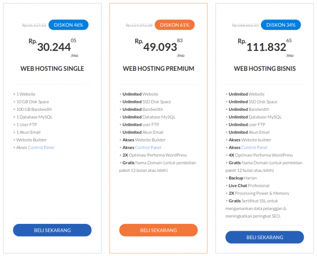 paket web hosting indonesia